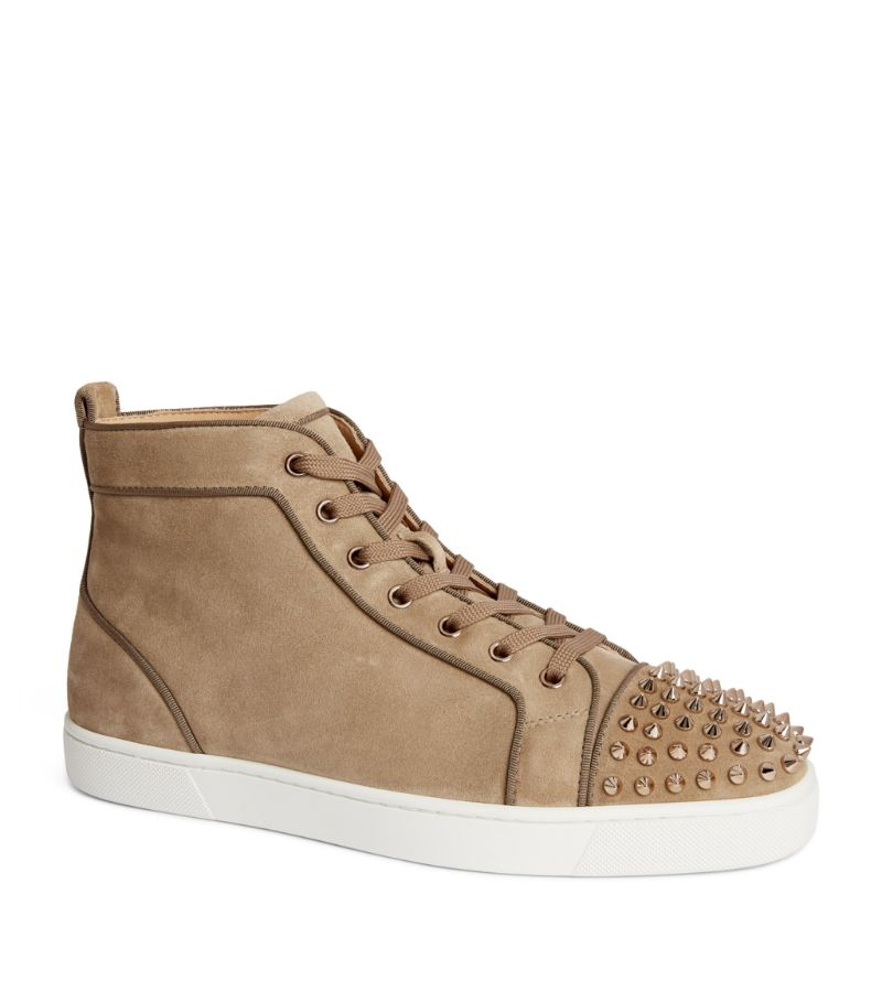 Christian Louboutin Lou Spikes Orlato Leather High-Top Sneakers