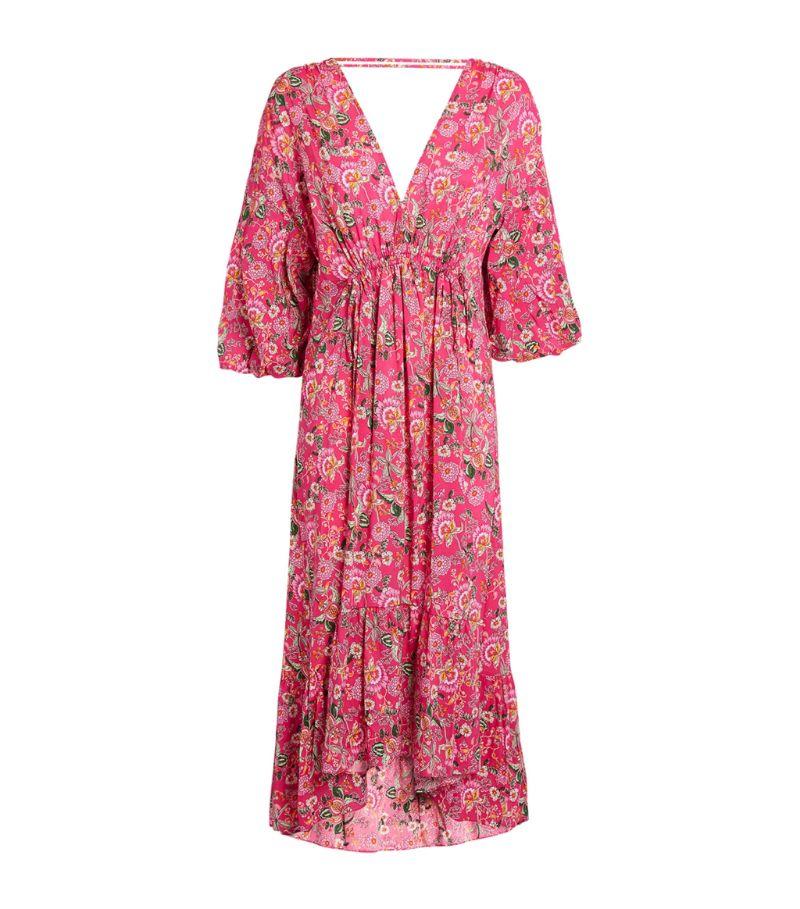 Misa Los Angeles Floral Johanna Midi Dress