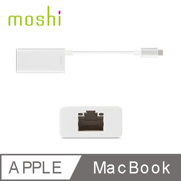 Moshi USB-C to Gigabit 乙太網路轉接線