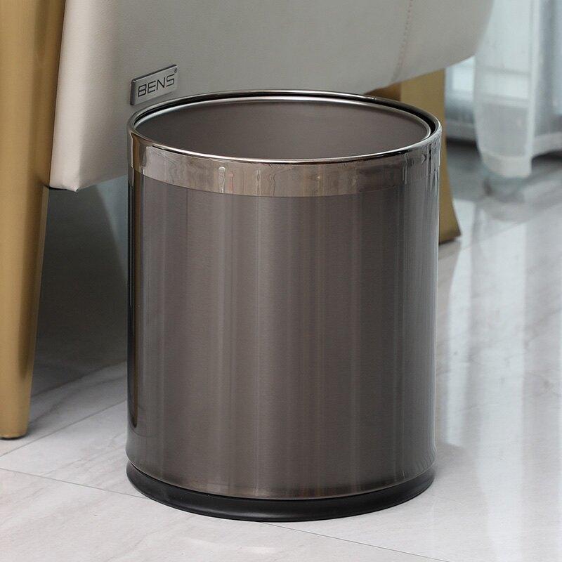 不鏽鋼垃圾桶 不銹鋼垃圾桶家用客廳簡約現代高檔輕奢風圾大號商用餐飲廚房無蓋【XXL3878】