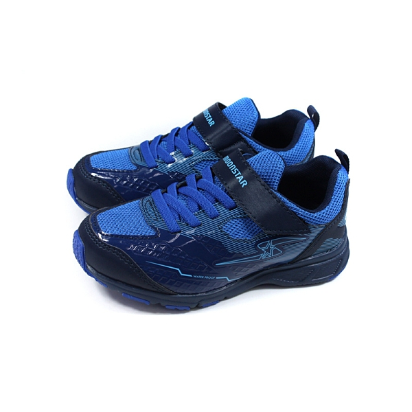 MoonStar 運動鞋 防水 魔鬼氈 藍色 童鞋 SSJ10295 no412