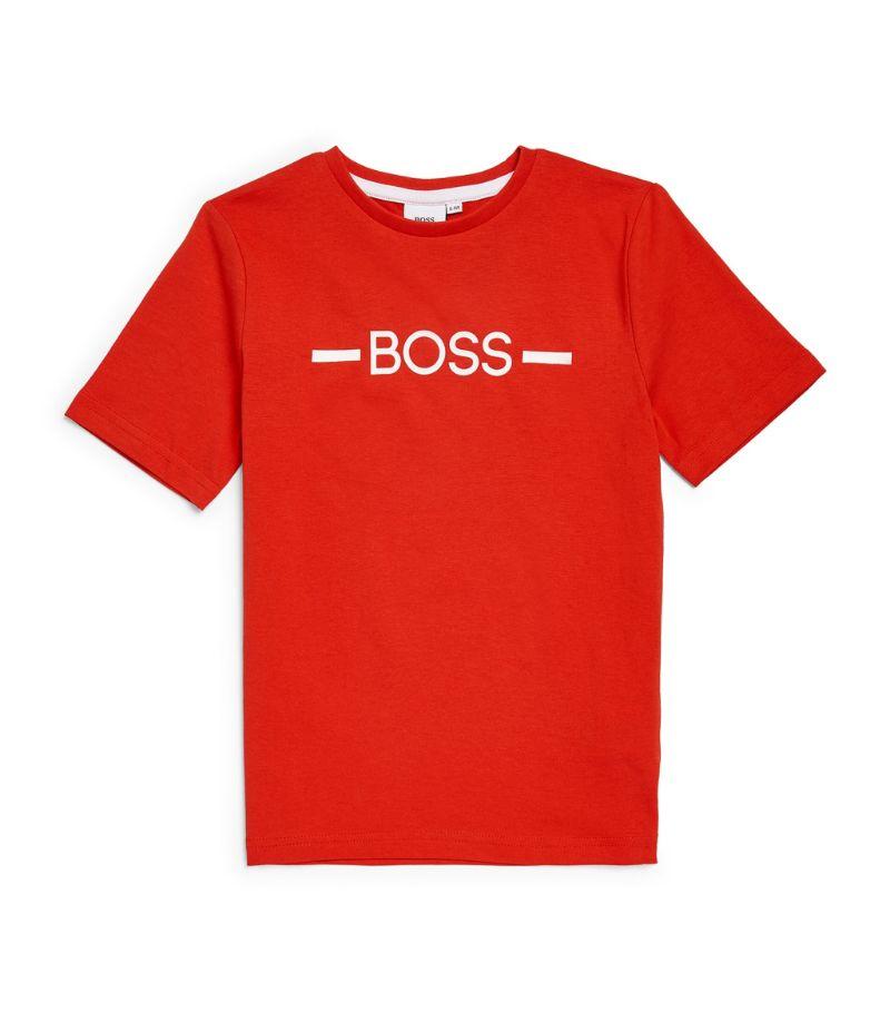 Boss Kidswear Cotton Logo T-Shirt (4-16 Years)