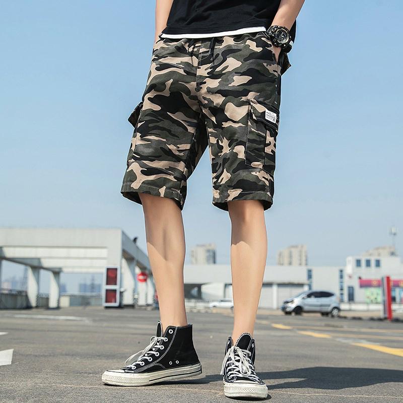 經典版型側口袋工裝短褲 /  M到5XL / 黑 / 軍綠 / 卡其 / 迷彩【QTJMZ866】
