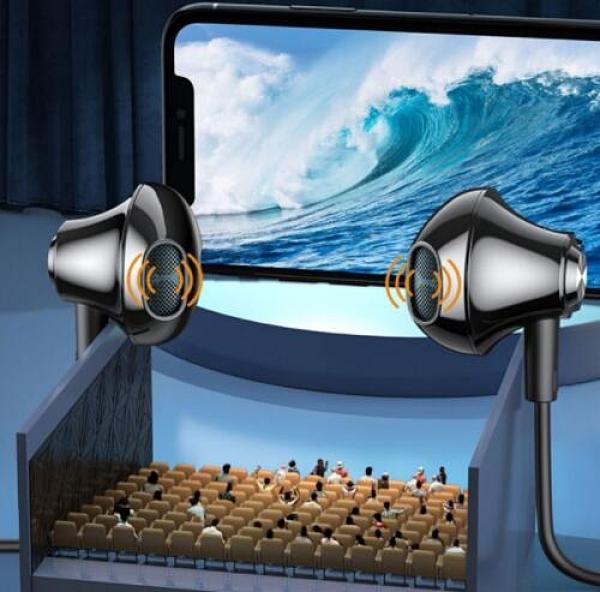 适用 华为荣耀30s耳机5g双动圈s30降噪honor30s入耳3Os线CDY-AN90一米