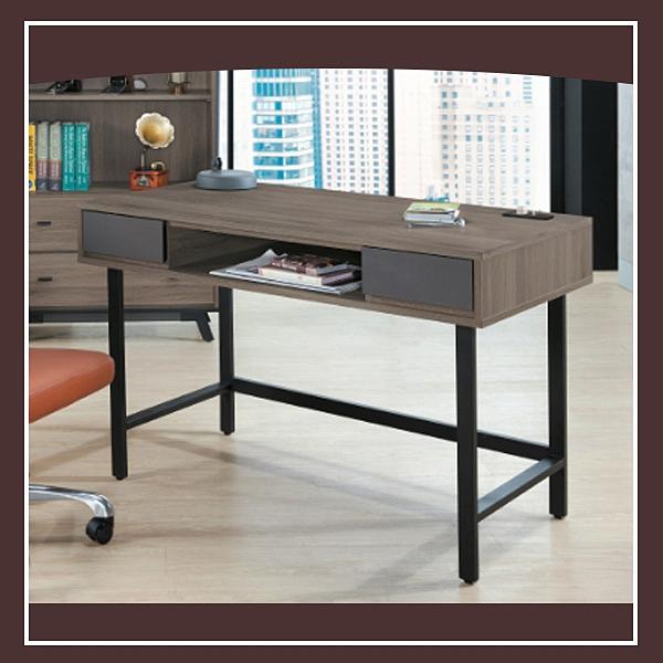 【多瓦娜】佐斯4尺書桌(附插座) 21152-520003