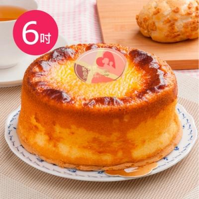 樂活e棧-母親節蛋糕-岩燒起司蜂蜜蛋糕1顆(6吋/顆)
