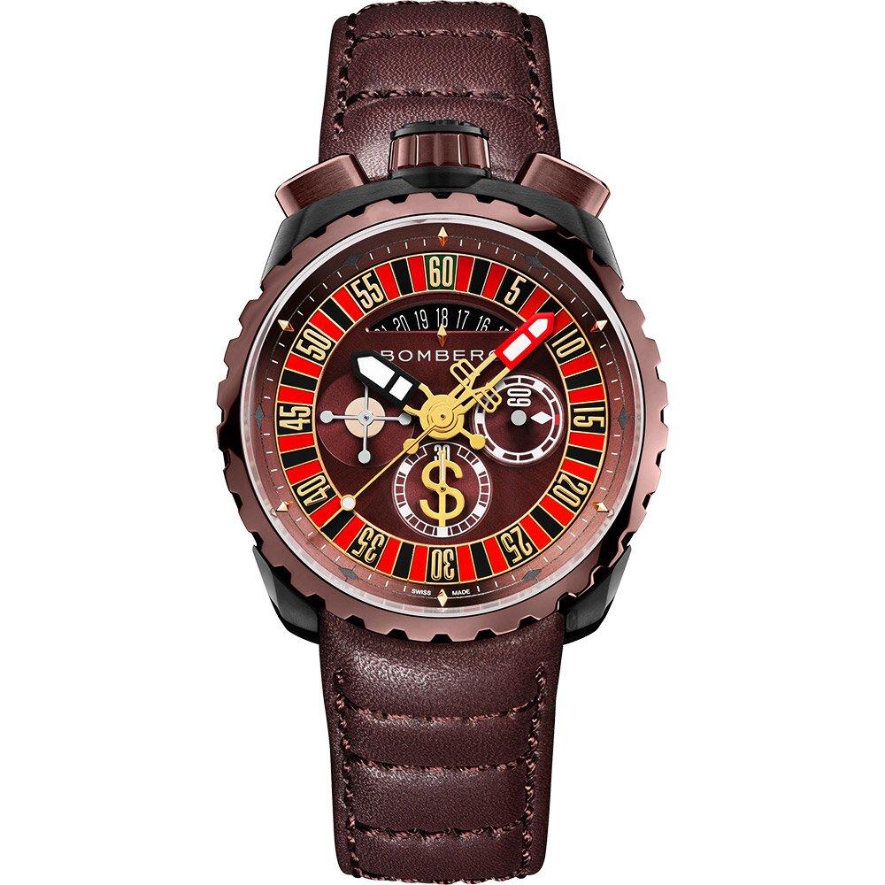 BOMBERG 炸彈錶 BOLT-68 賭神輪盤限量手錶(BS45CHPBRBA.GAM-1.3)