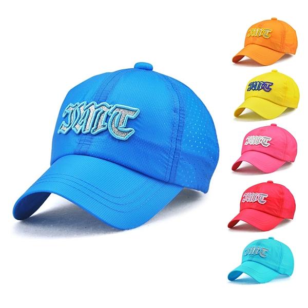 輕薄透氣速乾刺繡亮粉棒球帽 兒童 帽子 遮陽帽 速乾 男童 女童 童裝 現貨 橘魔法