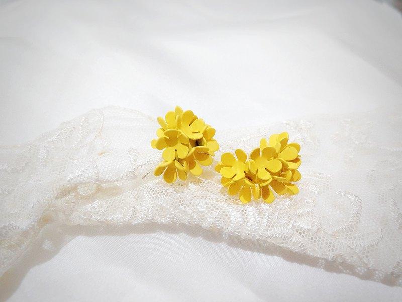向陽花漾  耳環 耳飾 飾品 銀 S925 日系 氣質 花 球花 浪漫 春天