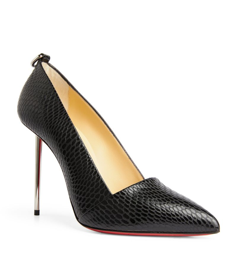 Christian Louboutin Epic Et Pointe Embossed Leather Pumps 100