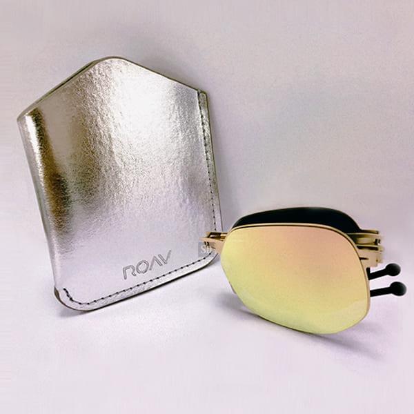 【ROAV】太陽眼鏡 薄鋼 折疊墨鏡 NY001 C14.66 粉水銀 玫瑰金框 美國 OVERSIZE 60mm