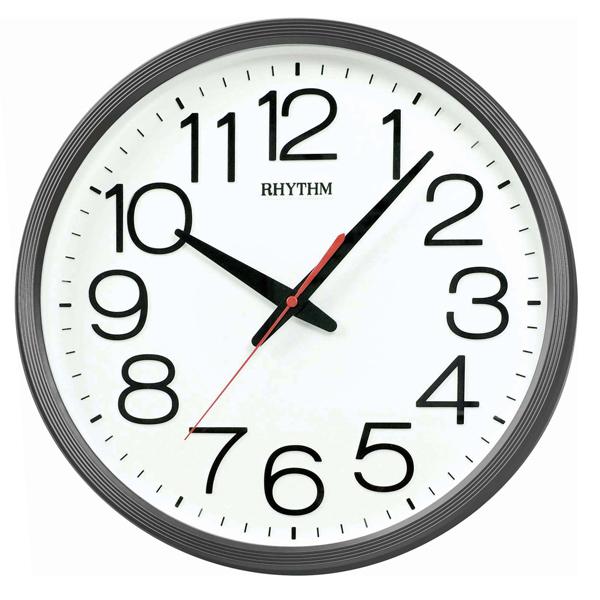 RHYTHM 日本麗聲 CMG495 大數字現代簡約靜音掛鐘