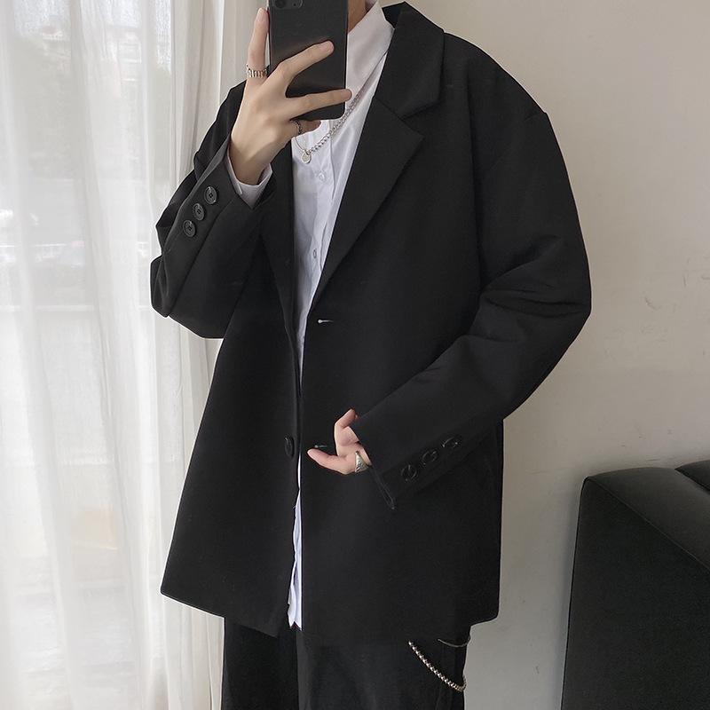 FOFU-港風休閒西裝男韓版潮流寬鬆網紅帥氣小西裝時尚輕商務外套【08SB00315】