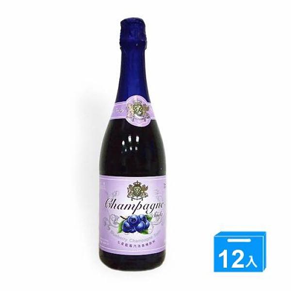 七星藍莓汽泡香檳飲料750ml*12【愛買】