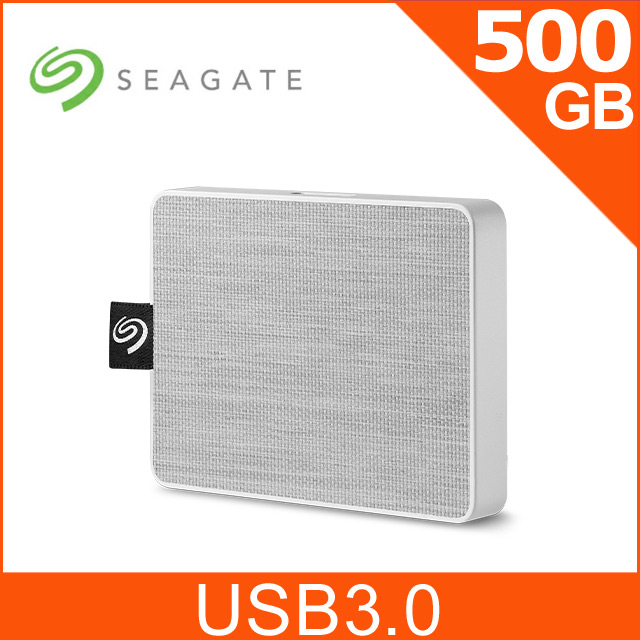 Seagate One Touch 500GB 外接SSD 晨霧白(STJE500402)
