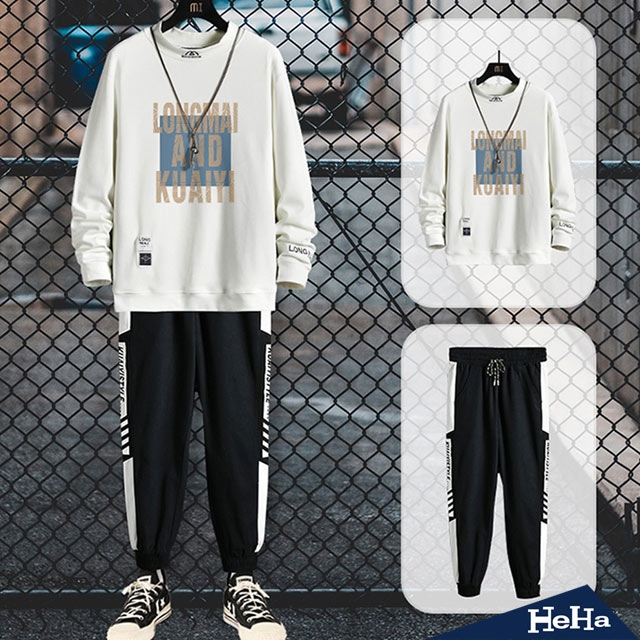 【HeHa】半高領保暖上衣+抽繩長褲套裝 四色