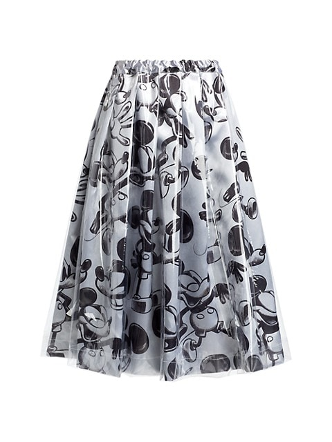 Mickey Mouse Vinyl Layer A-Line Skirt