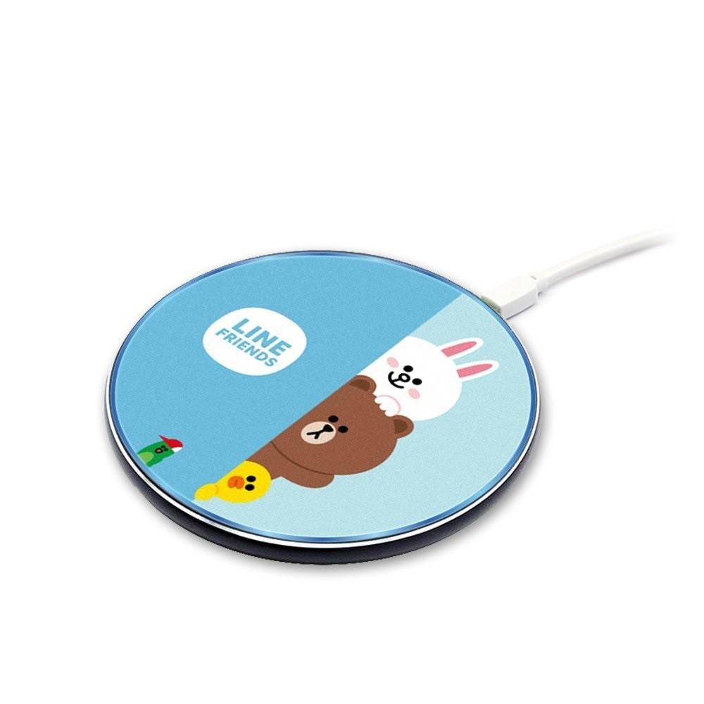 LINE FRIENDS 極薄快充 Qi 10W 無線充電盤 充電盤 無線充電器 充電器 充電盤
