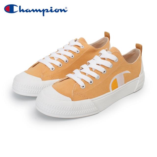 【Champion】PURE C 復古休閒鞋 女鞋-黃/白(WFLS-0078-90)
