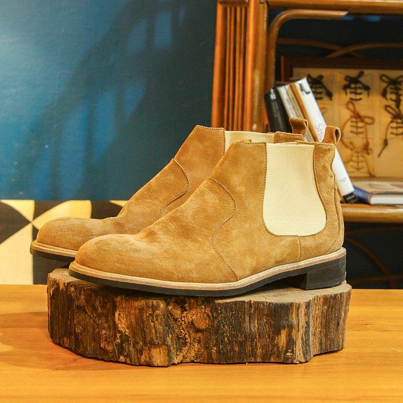 【展示打樣品】純手工訂製 切爾西靴-CH02 焦糖 皮靴 男 紳士靴