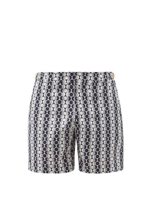 Orlebar Brown - Bulldog Caliso-print Swim Shorts - Mens - Navy