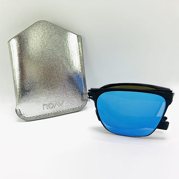 【ROAV】太陽眼鏡 薄鋼 折疊墨鏡 SS002 C13.63 藍水銀 美國 OVERSIZE 59mm