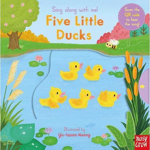 Sing Along With Me Five Little Ducks (硬頁推拉書)(英國版)【禮筑外文書店】