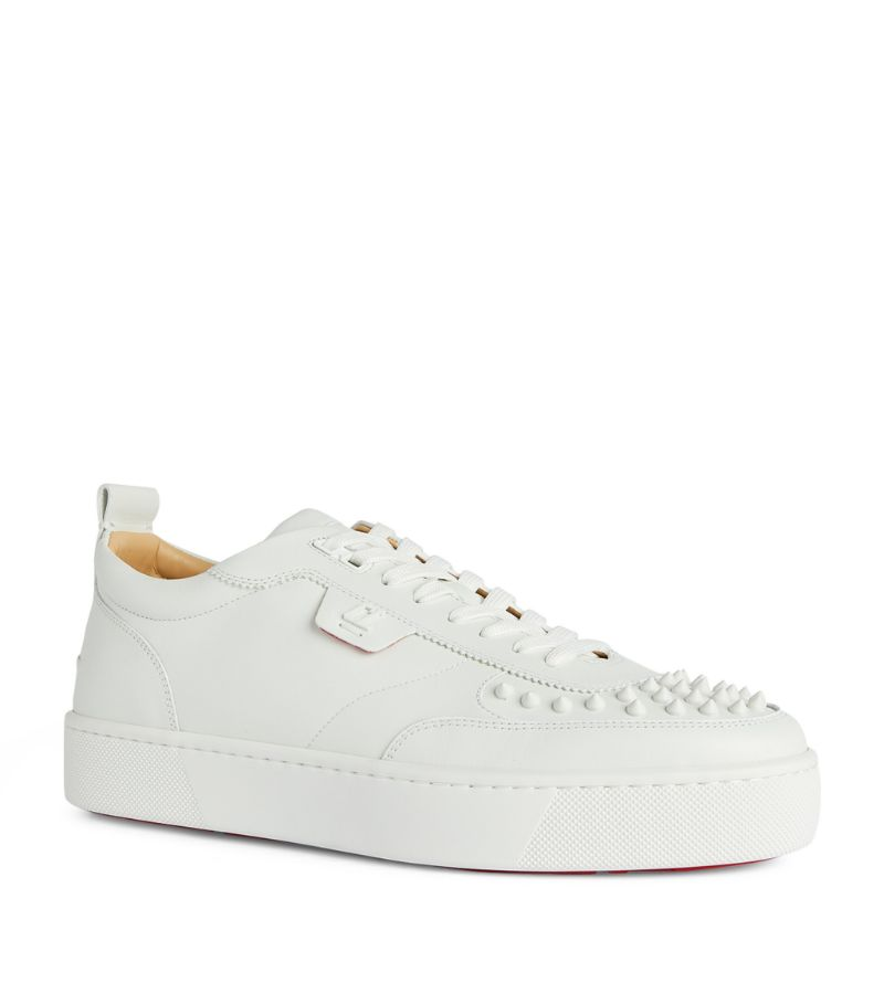 Christian Louboutin Happyrui Spikes Leather Sneakers