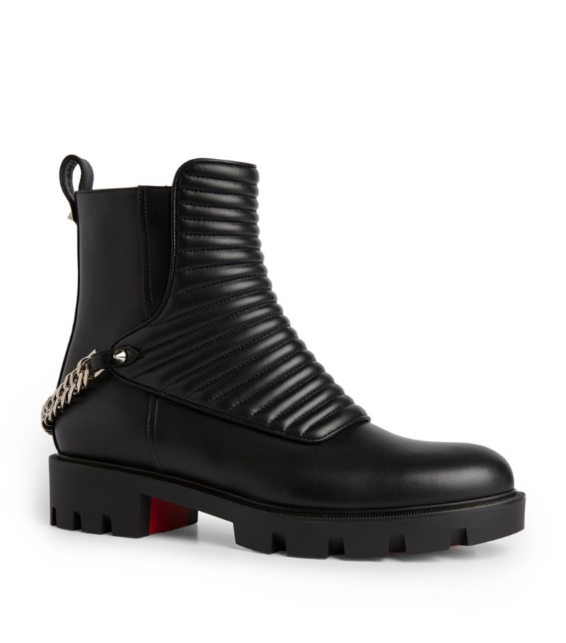Christian Louboutin Maddic Max Leather Ankle Boots