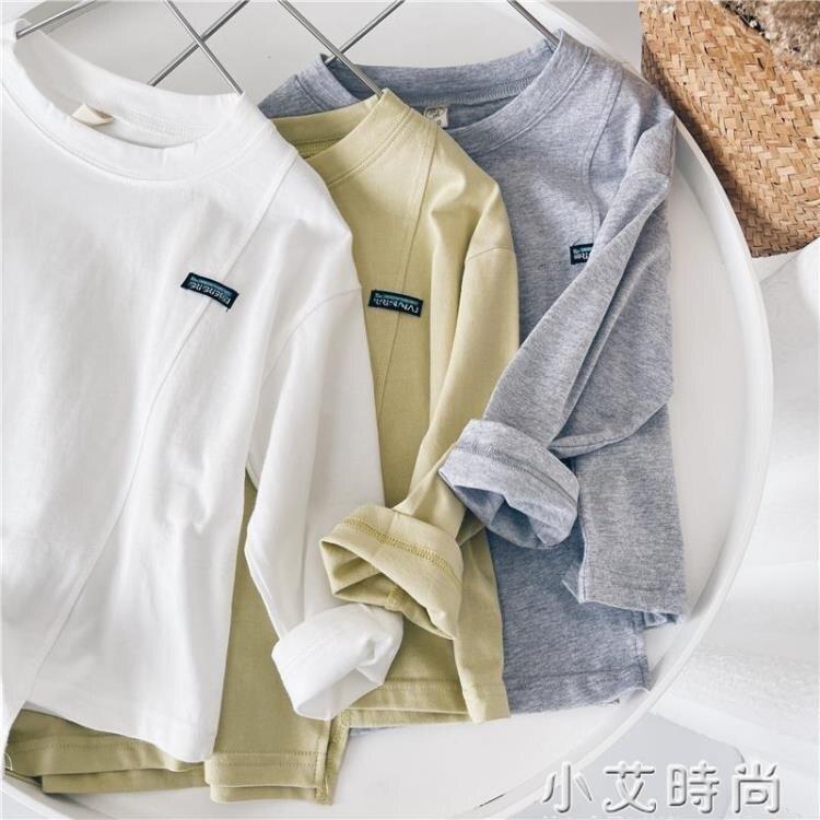 小杰家童裝男童T恤春季新款長袖寬松休閑中小童韓版洋氣兒童上衣 四季小屋