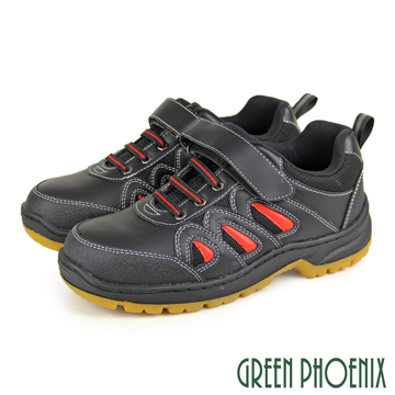 【GREEN PHOENIX 】MIT男款運動風沾黏式防穿刺鋼頭安全工作鞋S-13759