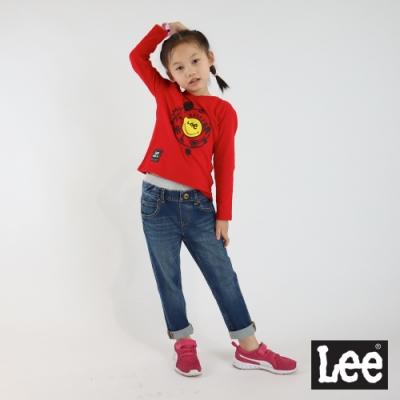 Lee X SMILEY聯名 童裝-長袖圓領TEE-活潑紅