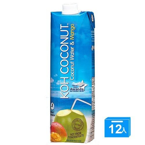 酷椰嶼 椰子芒果汁 1L*12【愛買】