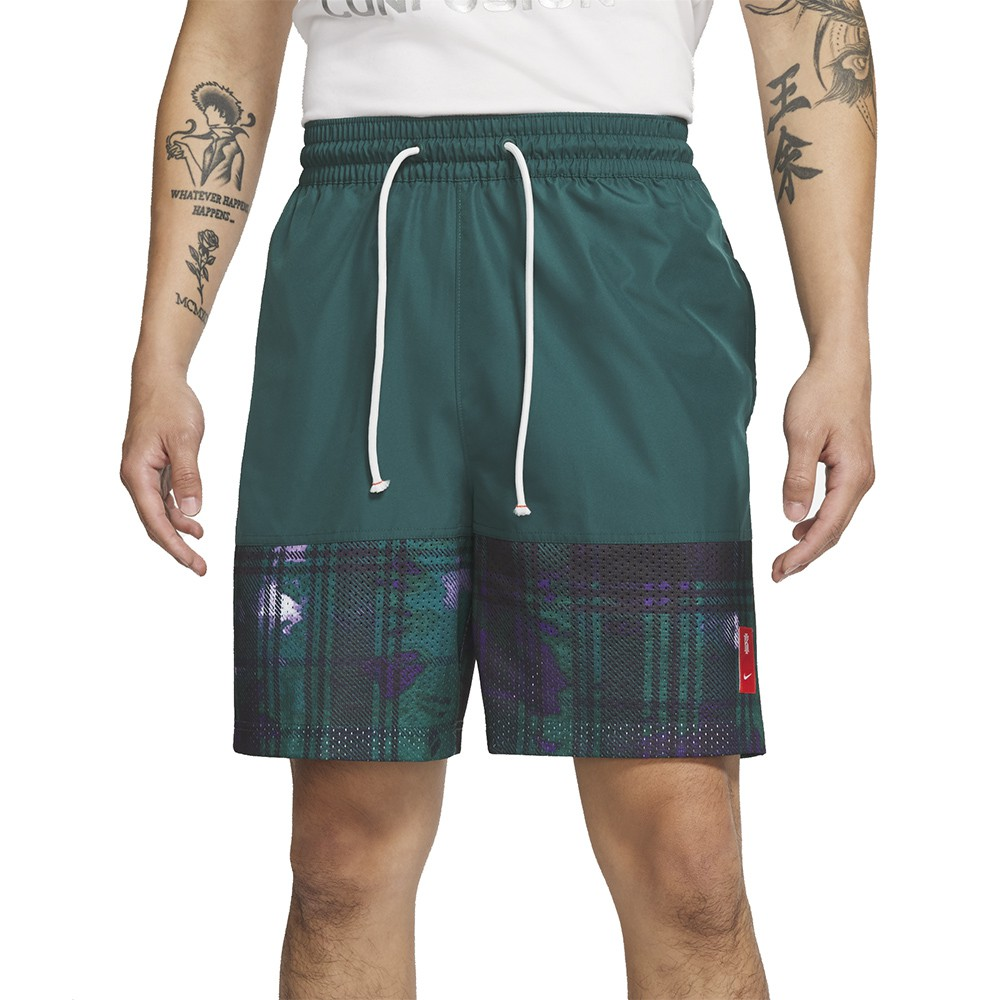 NIKE AS KYRIE M NK SHORT PRINT 男款 綠 慢跑 健身 運動短褲 CK6760566