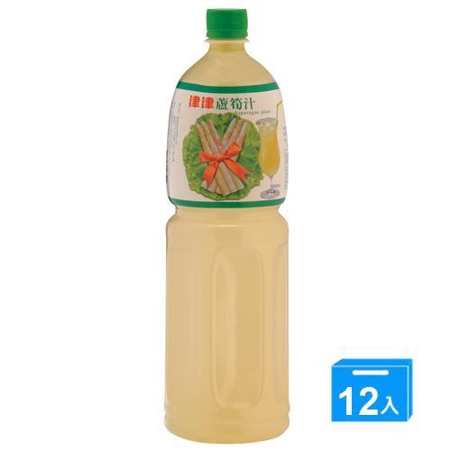 津津蘆筍汁1500ml*12入/箱【愛買】