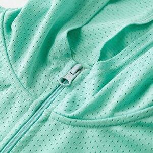 【E•Heart】高透氣抗UV防曬外套(涼感顯瘦款-綠)(LL)
