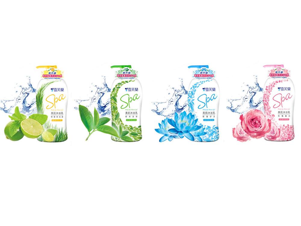 雪芙蘭 美肌spa沐浴乳1000g  檸檬草  / 綠茶 / 睡蓮 / 玫瑰