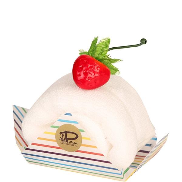 【日本製】【Le patissier】日本製 今治毛巾 蛋糕捲造型 香草白 SD-4037 - 日本製 今治毛巾