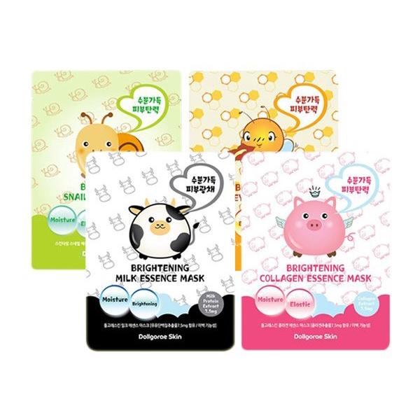 韓國 Dollgorae Skin 淨白保濕緊緻面膜(單片26ml)【小三美日】DS000238