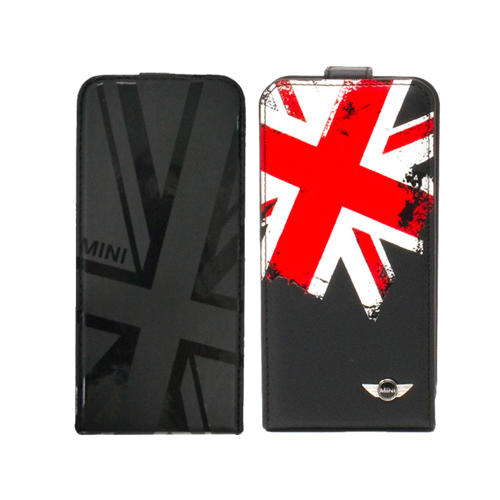 Mini Cooper PU皮革紋上掀皮套 iPhone SE 5s 掀蓋手機皮套 英國國旗 手機殼 手機保護套 i5/5s/SE配件