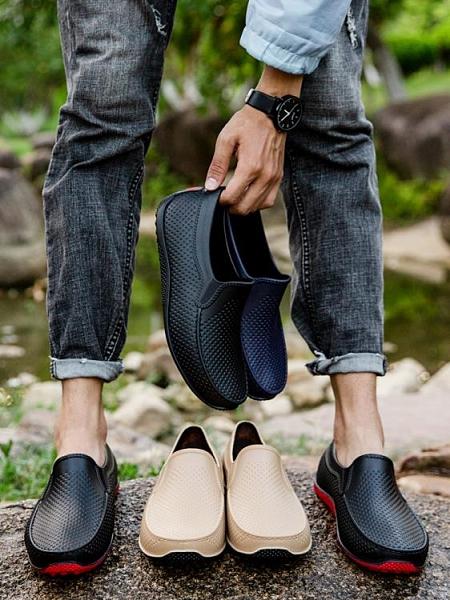 雨鞋 廚房雨鞋男潮低幫夏季防水鞋男雨靴短筒防滑洗車食堂工作套鞋膠鞋 非凡小鋪 新品