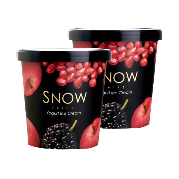【雪坊優格 SNOW FACTORY】桶裝 冰淇淋 2桶/組 優格冰淇淋 豆漿冰淇淋 使用100%鮮奶優格+新鮮水果製成