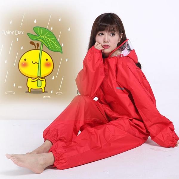 成人連身雨衣全身防水雨衣騎行雨衣男女加厚防水衣連身 陽光好物