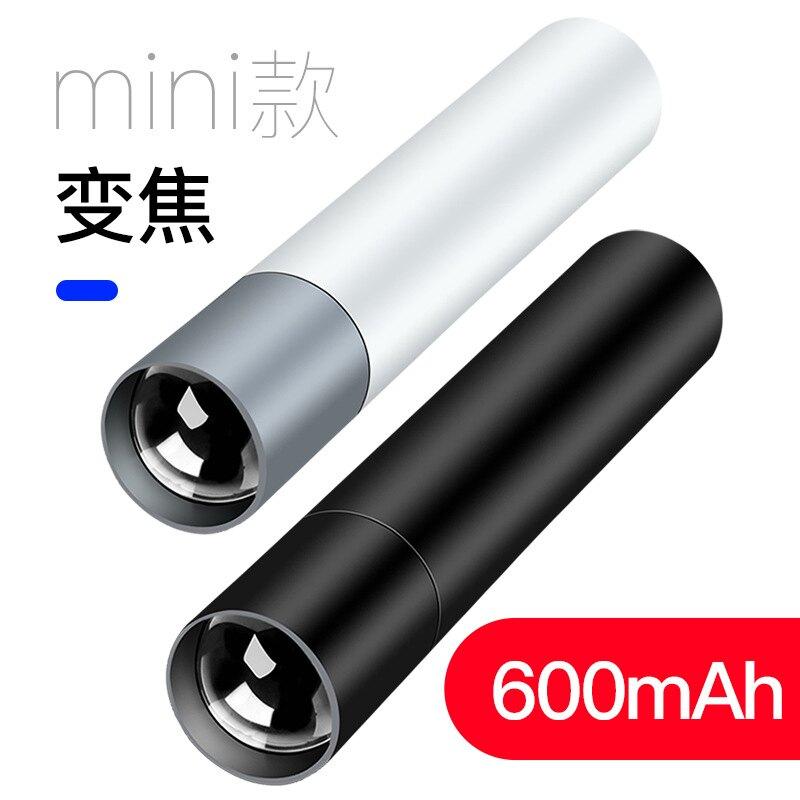 跨境新款LED內置鋰電池迷你充電手電筒 COB側燈Q5禮品手電筒 新店開張全館五折