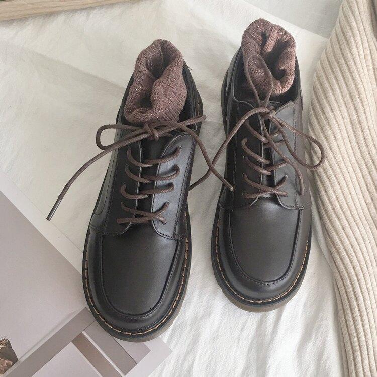 復古小皮鞋女英倫風日系森女學生休閒chic牛津鞋學院布洛克鞋單鞋 四季小屋