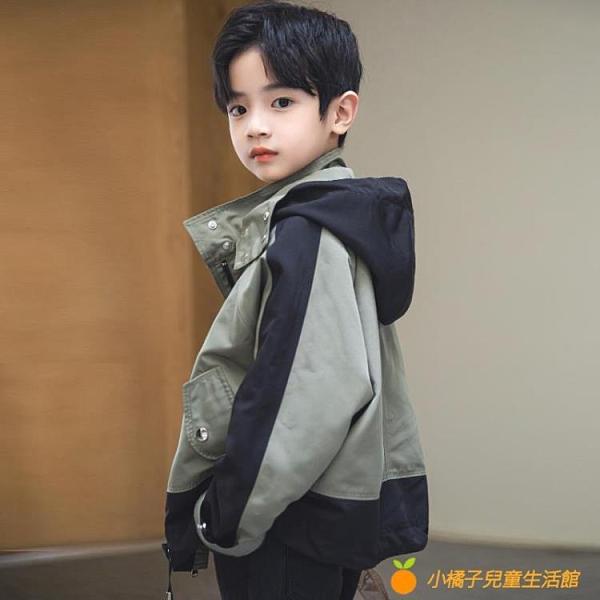 男童炸街外套春裝2021年春秋季新款中大童兒童裝夾克韓版洋氣潮牌【小橘子】