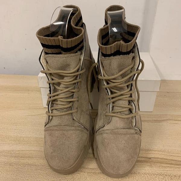 英倫風內刷毛馬丁鞋潮短靴休閒鞋(39號/777-10123)