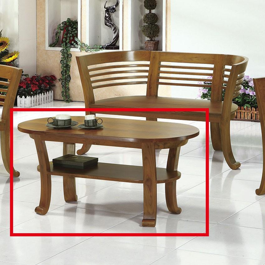【110cm大茶几-E304-4】實木原木玻璃 大理石長方桌 大小邊几 圓桌 【金滿屋】