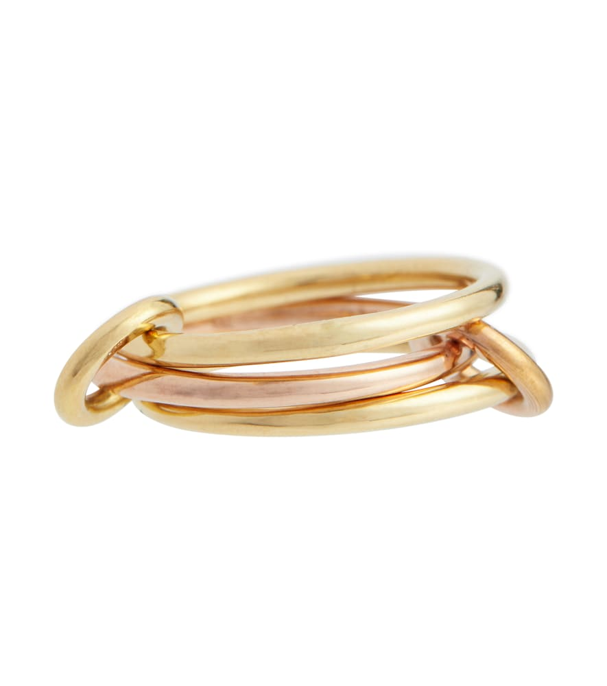 Solarium 18kt yellow and rose gold linked rings