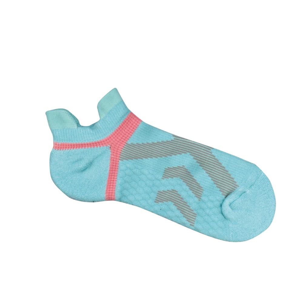 貝柔足弓交叉防磨加壓護足氣墊船襪(女)-湖綠(1雙)【康是美】